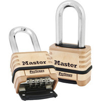 Master Lock Wide ProSeries Brass Resettable Combination Padlock